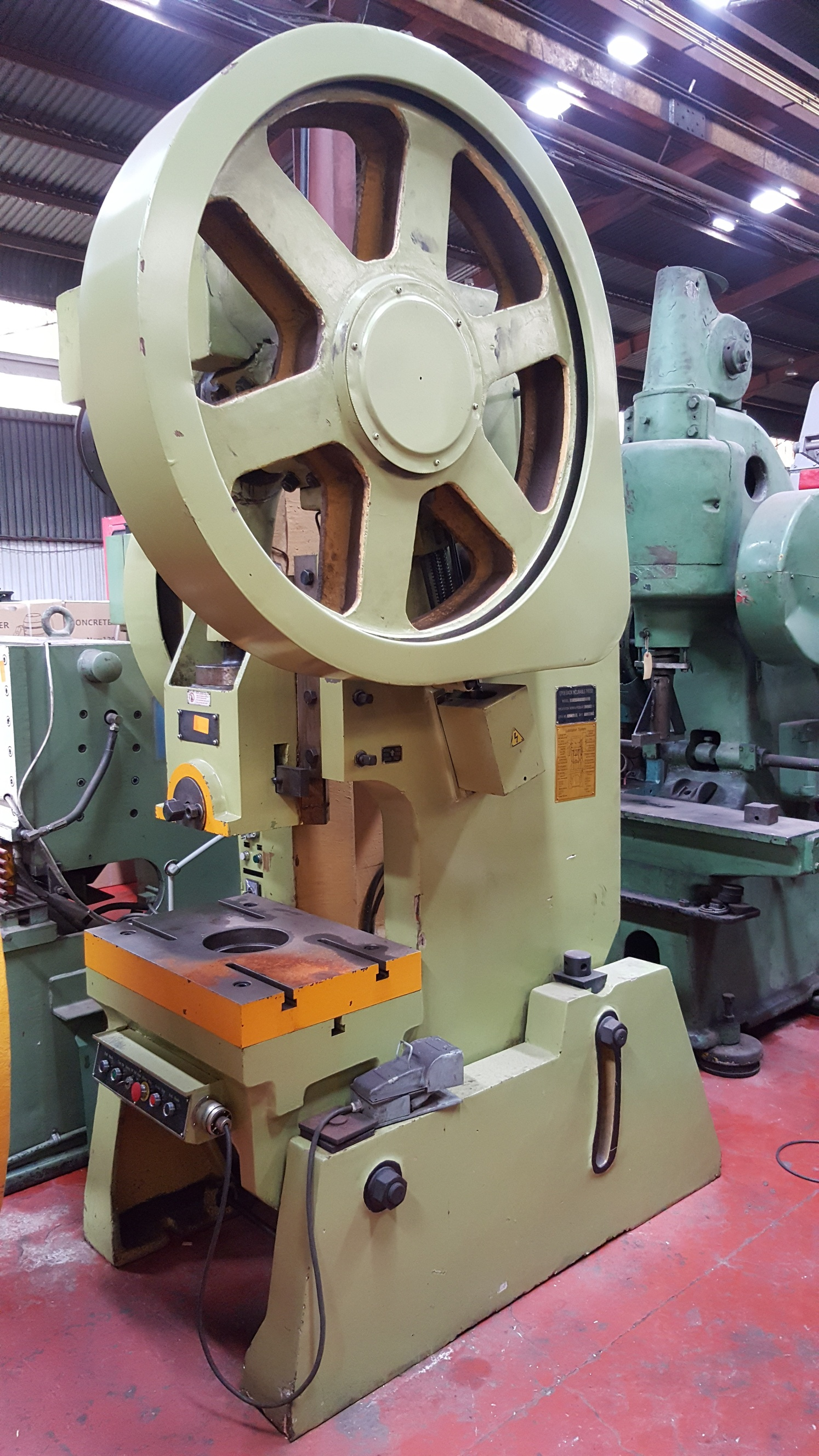 Used 63t Open Back Inclinable Eccentric Press Mtool